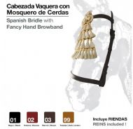 Economy vaquera bridle with hair mosquero